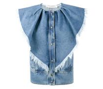 Jeansweste mit ausgefransten Volants - women