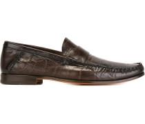 Penny-Loafer in Krokodilleder-Optik