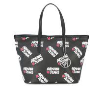 Shopper mit Logo-Print - women - Polyurethan