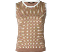 Zweifarbiges Stricktop - women