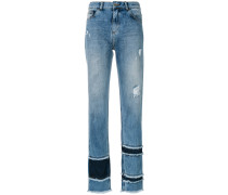frayed straight leg jeans - Unavailable