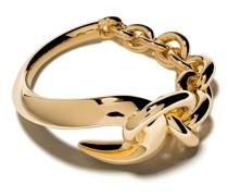 'Hook' Ring mit Kette