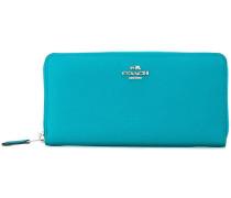 Portemonnaie mit silberfarbenen Reißverschlüssen