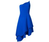 Einschultriges Kleid mit gewelltem Saum