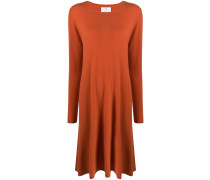 long-sleeve flared jumper dress