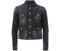 Cropped-Jeansjacke mit Metallverzierung