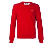 Sweatshirt mit Herzapplikation