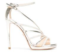 Stiletto-Sandalen im Metallic-Look