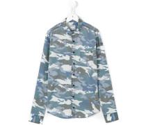 Hemd mit Camouflage-Print - kids - Baumwolle