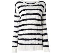 round neck striped jumper