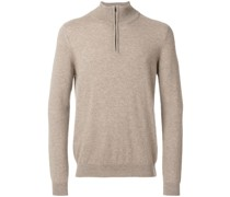 zipped neck jumper - Unavailable