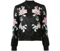 Jacke mit aufgestickten Blumen - women