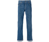 Klassische Jeans mit Stickerei