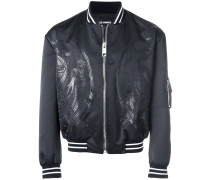 dragon patch bomber jacket
