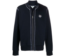 Sweatshirtjacke mit Tiger-Logo