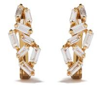 Mini 18kt Gelbgoldcreolen mit Diamanten