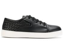 Sneakers mit Intrecciato-Flechtmuster