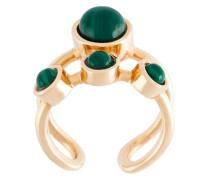 Vergoldeter 'Lava' Ring mit Malachit