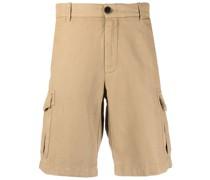 Cargo-Shorts mit Leinenanteil