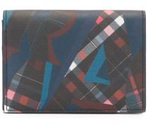 Bedrucktes Kalbsleder-Portemonnaie