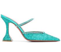 'Gilda' Mules im Glitter-Look, 105mm