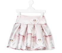 swan print skirt