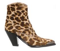 Stiefel mit Leoparden-Print