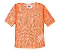 - Netz-T-Shirt mit rundem Ausschnitt - women