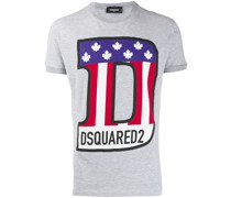 T-Shirt mit Flaggen-Logo
