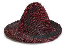 contrast pleated detail hat