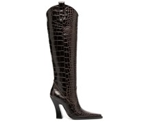 Stiefel mit Kroko-Effekt, 105mm