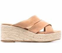Wedge-Sandalen mit Espadrillesohle