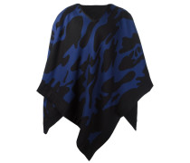 Cape-Schal mit Print - men - Seide/Wolle