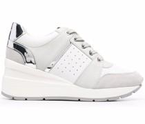 Wedge-Sneakers im Metallic-Look