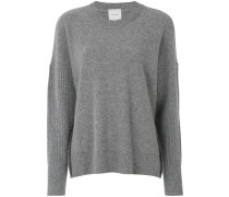 ribbed sleeve jumper
