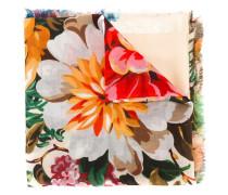 floral shawl - women - Seide/Wolle/Metallsiche