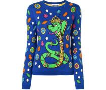 Intarsien-Pullover mit Schlangen-Print - women