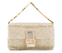 """Micro"" 'Baguette' Clutch im Metallic-Look"