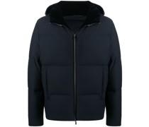 zipped up padded jacket
