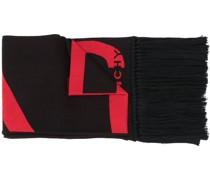 Ausgefranster Schal mit Logo