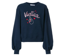 fingers cross logo embroidered sweatshirt