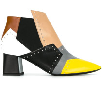 colour block studded boots