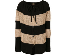 stripe panelled cardigan