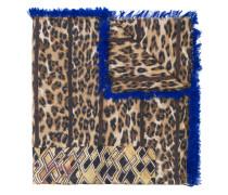 animal print frayed scarf