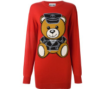 Pullover mit Teddybär-Print