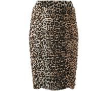 Bleistiftrock mit Leoparden-Print