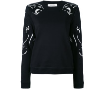 Sweatshirt mit Panther-Print