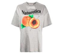 T-Shirt mit Pfirsich-Print