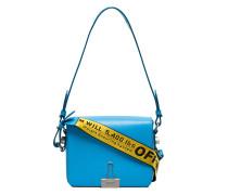 Blue Bulldog Clip Leather Shoulder Bag