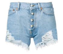 Distressed-Shorts mit Perlen